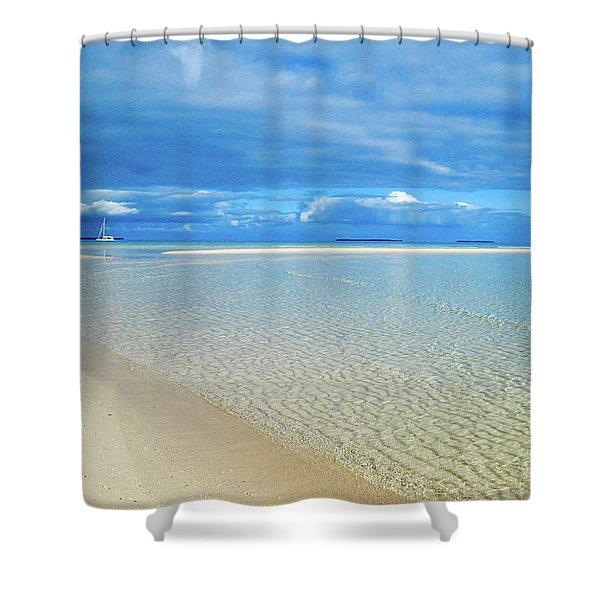 Adagio Alone In Ouvea, South Pacific Shower Curtain