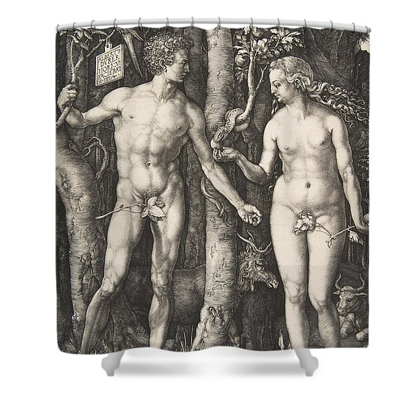 Adam And Eve, 1504  Shower Curtain