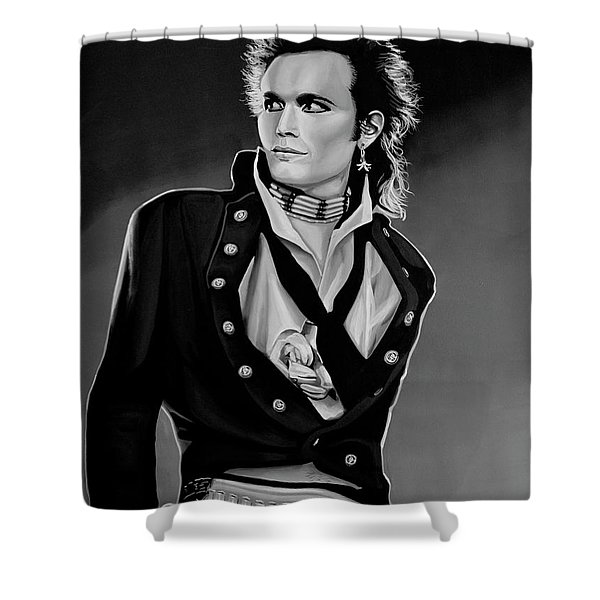 Adam Ant Painting Shower Curtain