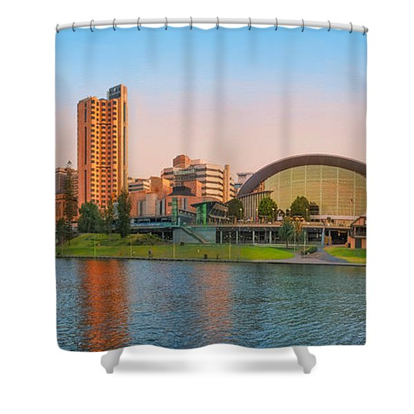 Adelaide Riverbank Panorama Shower Curtain