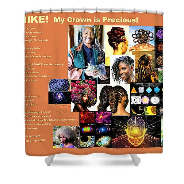 Adenike My Crown Is Precious Shower Curtain