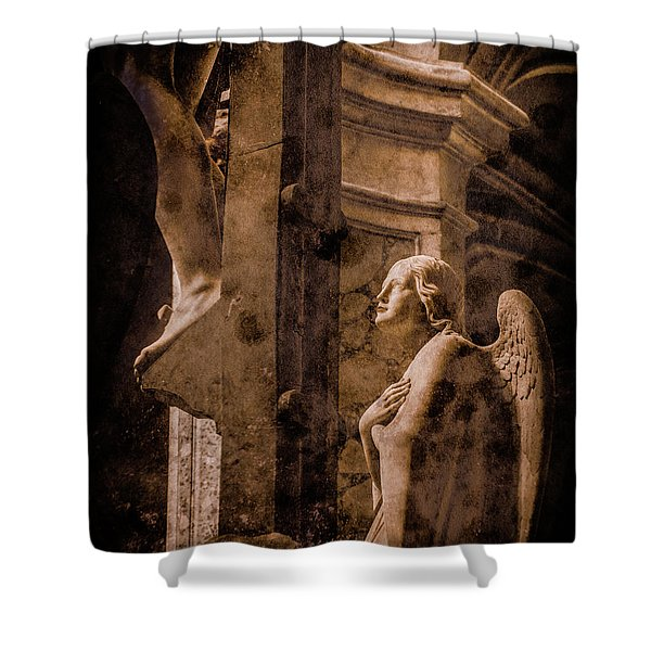 Paris, France - Adoring Angel Shower Curtain