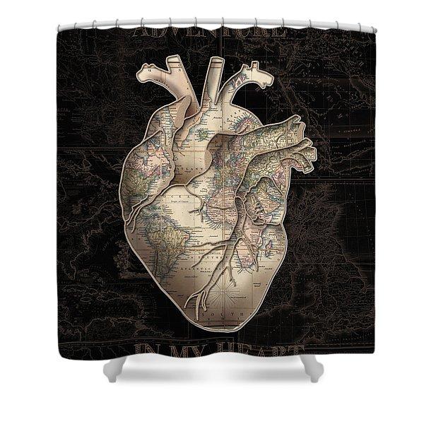 Adventure Heart 2 Shower Curtain