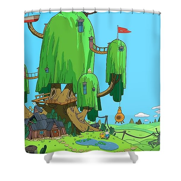 Adventure Time Shower Curtain