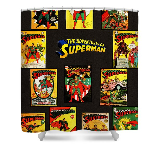 Adventures Of Superman Shower Curtain