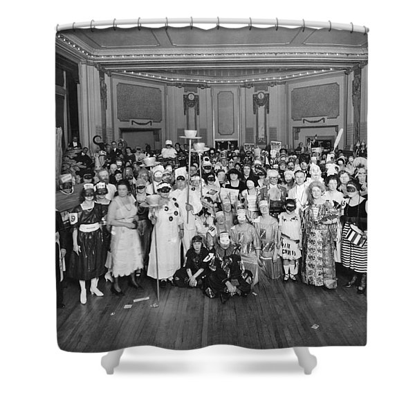 Advertising Costume Party Shower Curtain