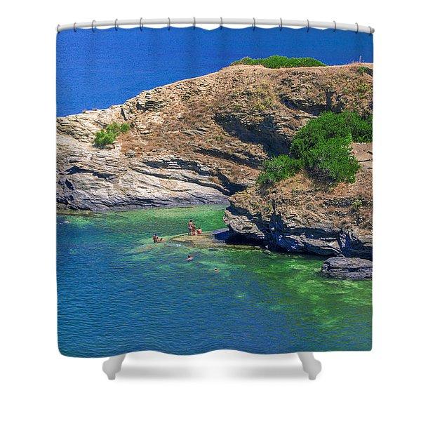 Aegean Coast In Bali Shower Curtain