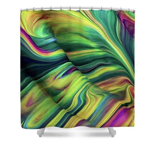 Aegean Wave Shower Curtain