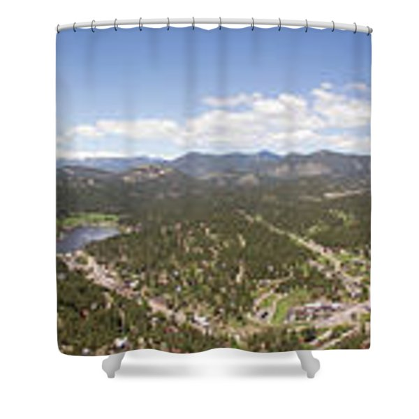 Aerial Pano Of Evergreen Shower Curtain