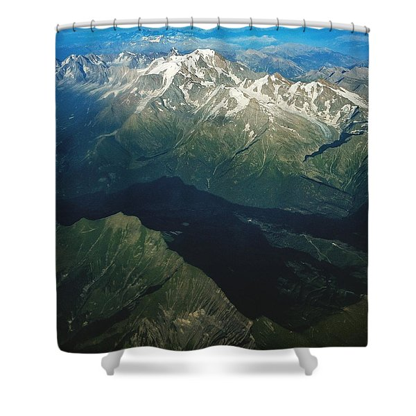 Aerial Photograph Of The Swiss Alps Shower Curtain