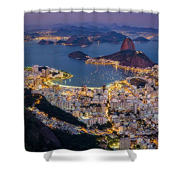 Aerial Rio Shower Curtain