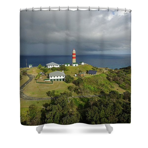Aerial View Of Cape Moreton Lighthouse Precinct Shower Curtain