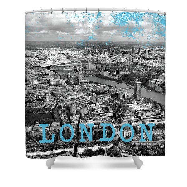 Aerial View Of London Shower Curtain
