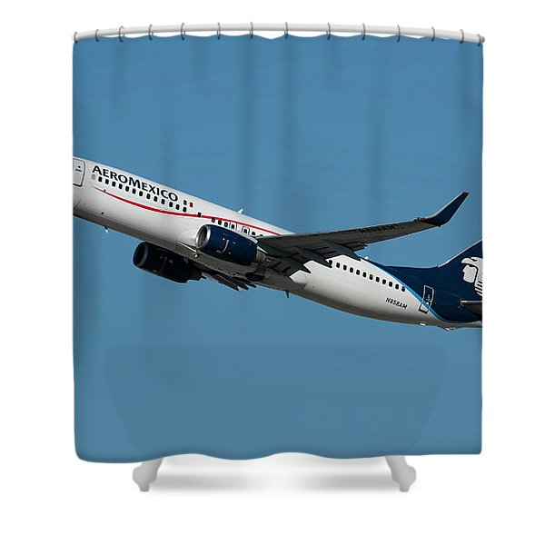 Aeromexico Boeing 737-800 Shower Curtain