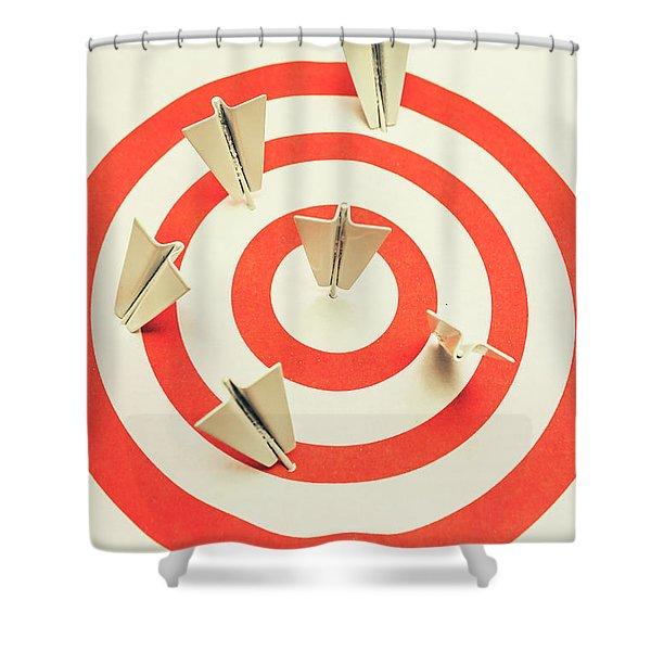 Aeroplane Target Pin Board Shower Curtain