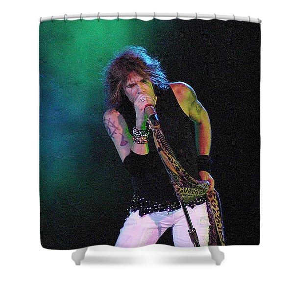Aerosmith - Steven Tyler -dsc00138 Shower Curtain by Gary Gingrich Galleries
