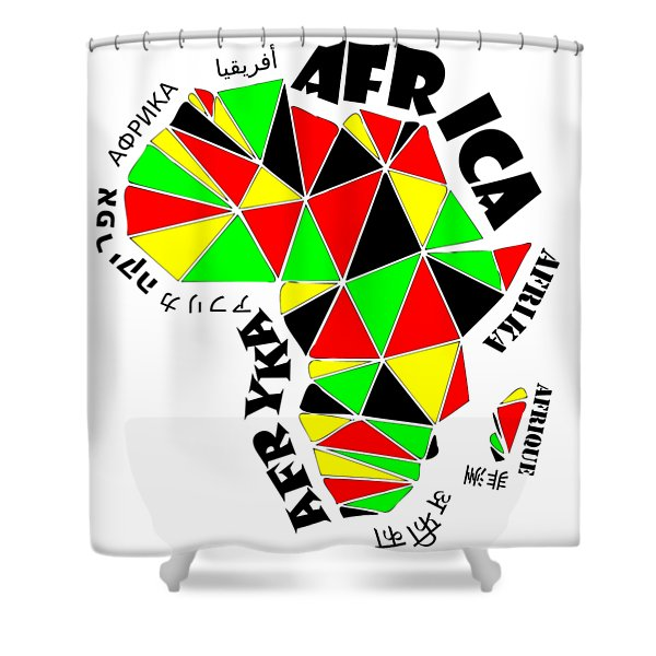 Africa Continent Shower Curtain