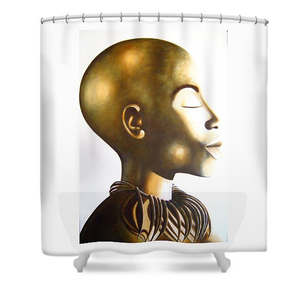 African Elegance Sepia - Original Artwork Shower Curtain