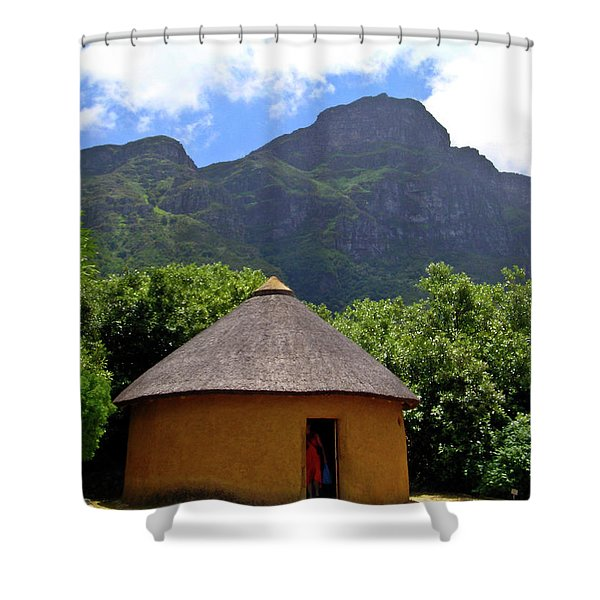 African Hut South Africa Shower Curtain