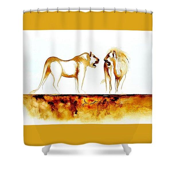 African Marriage - Original Artwork Shower Curtain