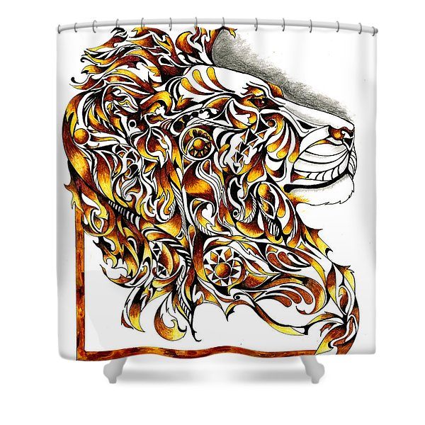 African Spirit Shower Curtain