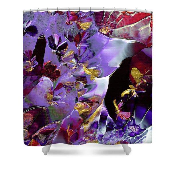 African Violet Awake #2 Shower Curtain