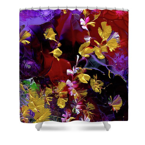 African Violet Awake #3 Shower Curtain