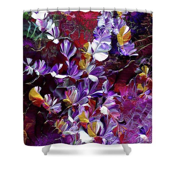 African Violet Awake #4 Shower Curtain
