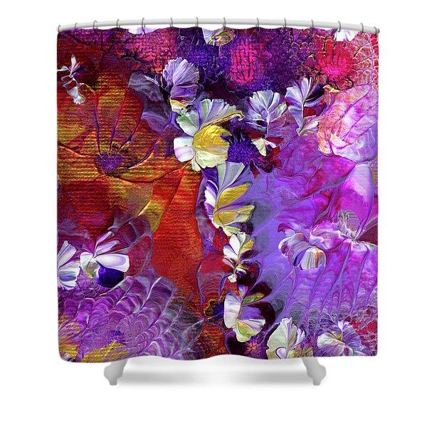 African Violet Awake #5 Shower Curtain