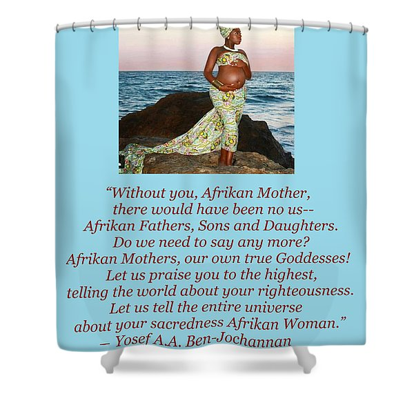 Afrikan Mother Shower Curtain