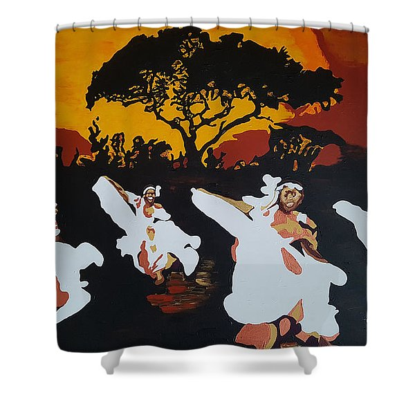 Afro Carib Dance Shower Curtain