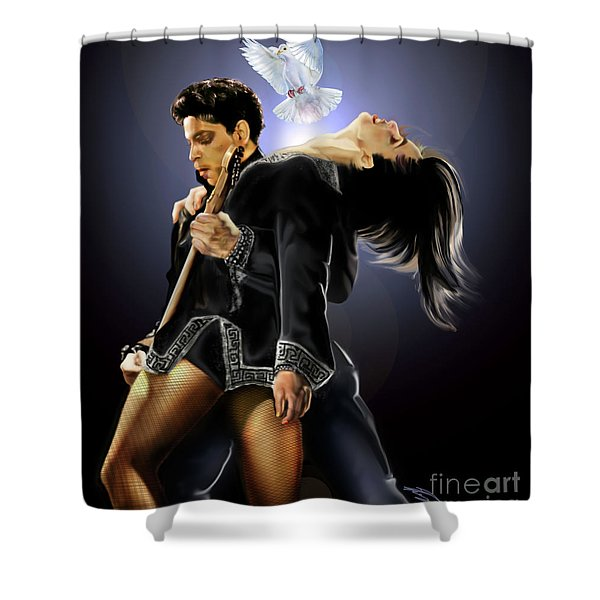 After Doves Cry They Fly Prince Shower Curtain