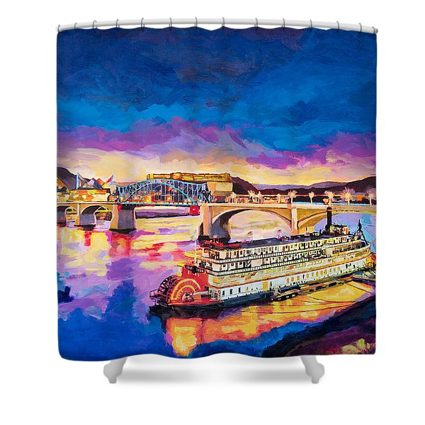 After Dusk Painting Shower Curtain