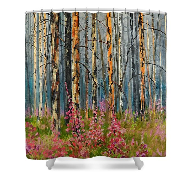 After Forest Fire Shower Curtain