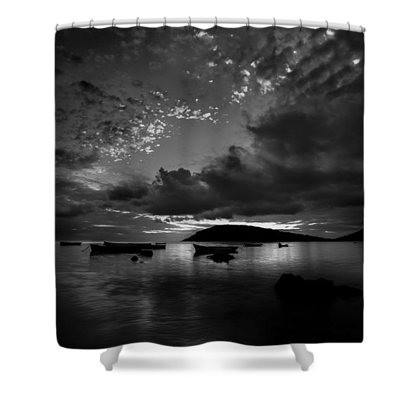 After The Day The Night Shall Come Shower Curtain