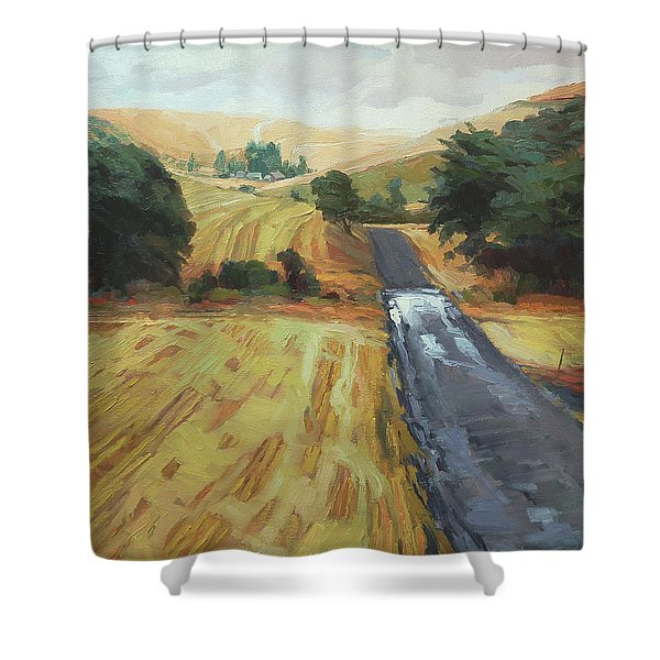 After The Harvest Rain Shower Curtain