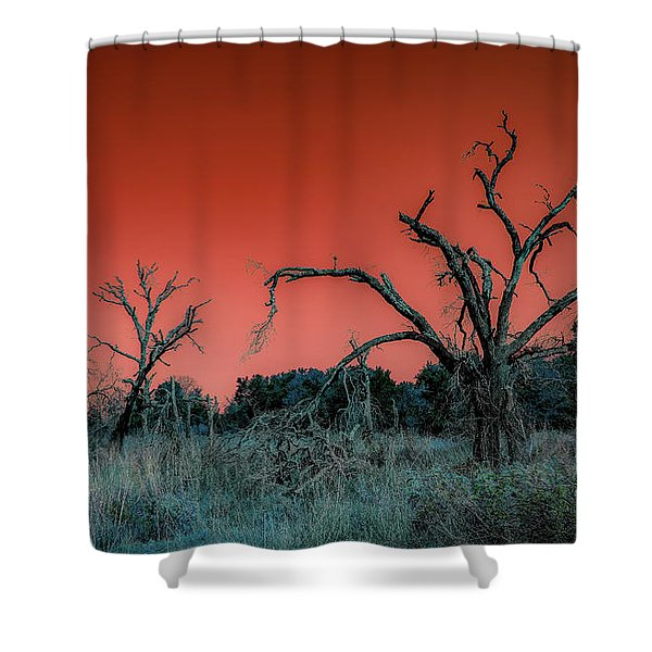 After The Hurricane Wars Shower Curtain