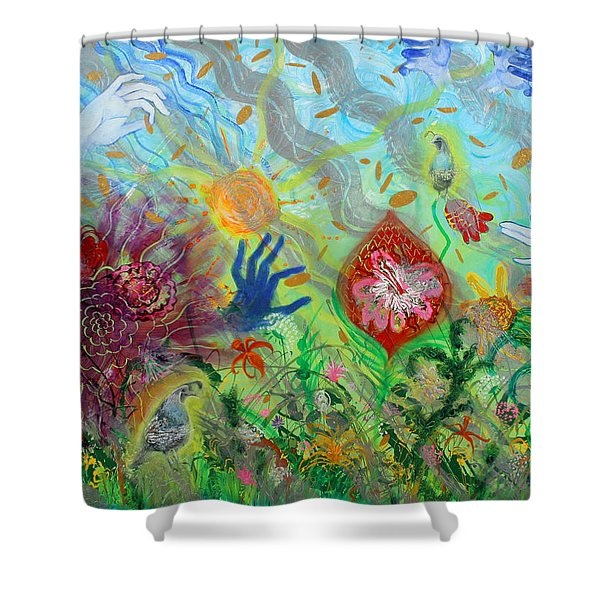 After The Manna Manifestation Of The Quail Shower Curtain