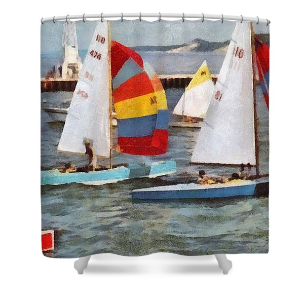 After The Regatta  Shower Curtain