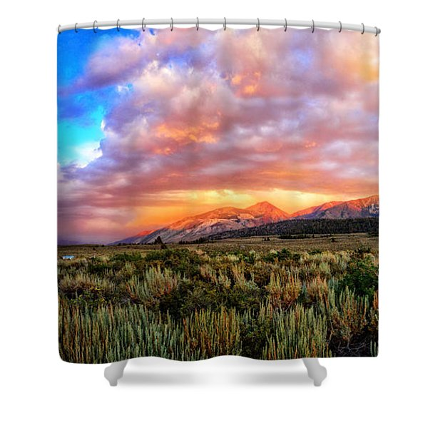 After The Storm Panorama Shower Curtain