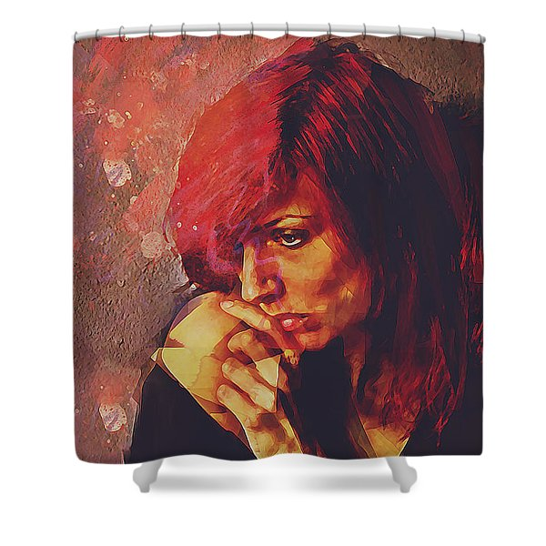 Afterimage Shower Curtain