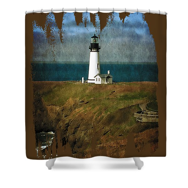 Afternoon At The Yaquina Head Lighthouse Shower Curtain