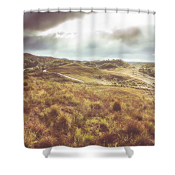 Afternoon Pastures  Shower Curtain