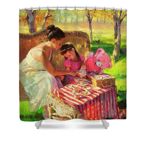 Afternoon Tea Party Shower Curtain