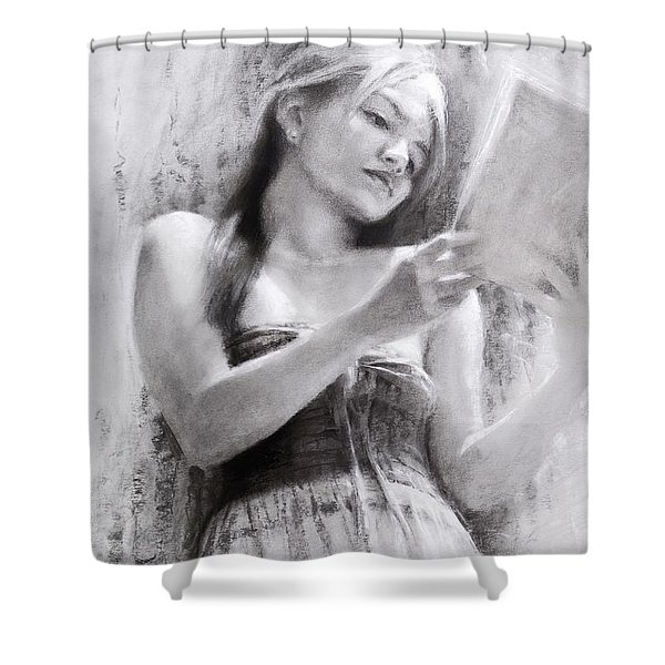 Afternoon With A Book Shower Curtain