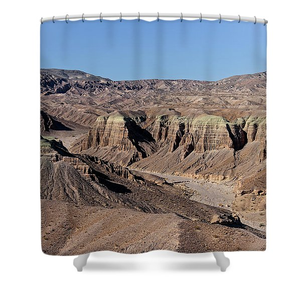 Shower Curtain featuring the photograph Afton Canyon by Jim Thompson