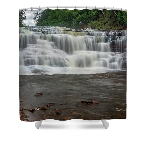 Agate Falls Shower Curtain