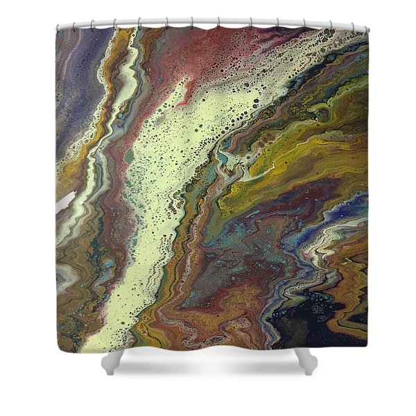 Agate Waterfall Shower Curtain