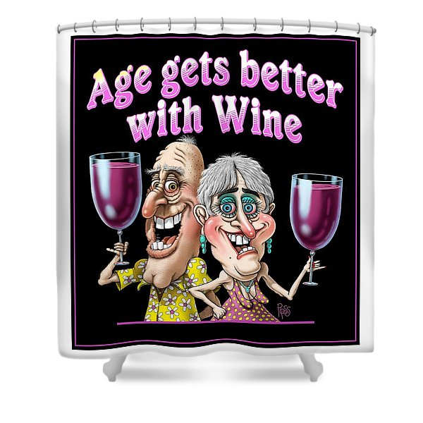 Age Gets Better Couple Shower Curtain