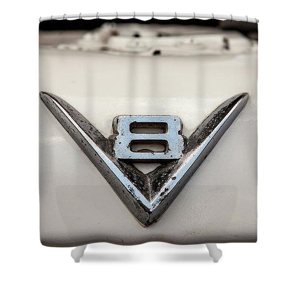 Aged V8 Shower Curtain